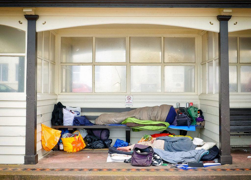 Homeless Man, Hastings