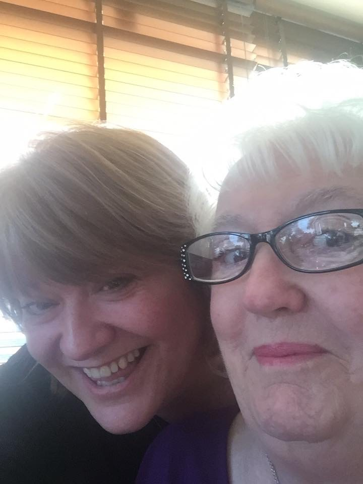 Louisa Brewster and her mother Patricia on her 82nd birthday last August