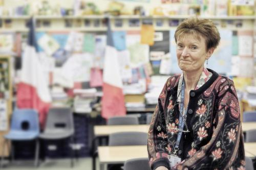 Trish Wood, French teacher and form tutor to nine of the children