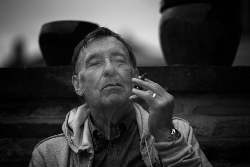 Peter smoking a cigar