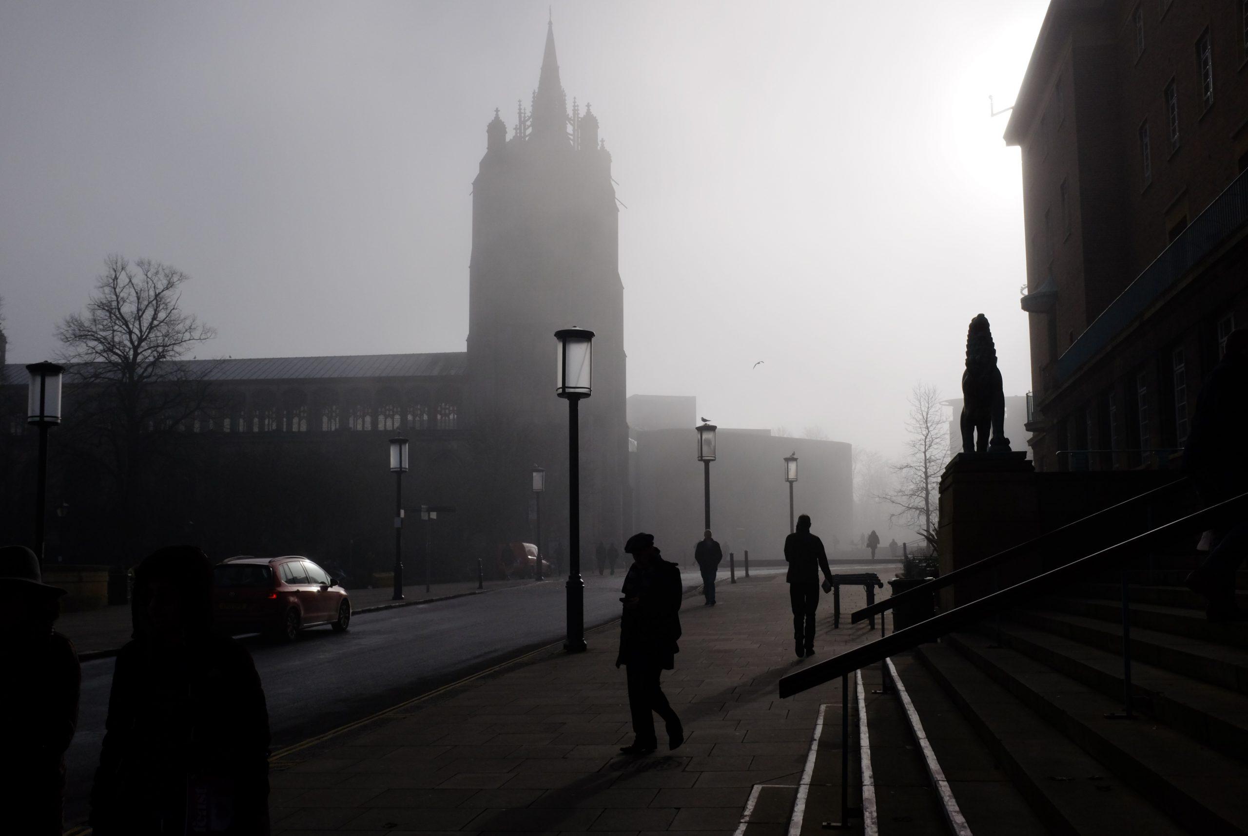 Norwich in the fog