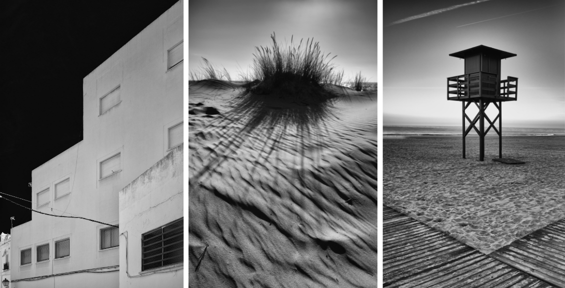 Three images of Cadiz